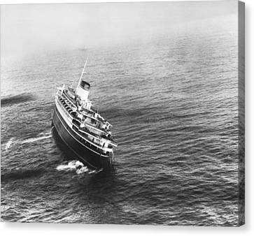 Andrea Doria Before Sinking Canvas Print