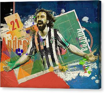 Andrea Pirlo Canvas Print by Corporate Art Task Force
