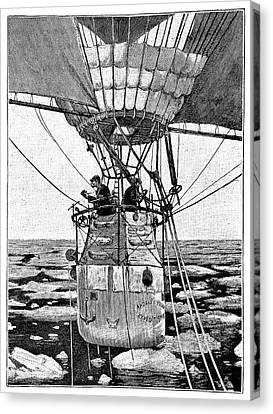 Andree's Arctic Balloon Expedition Canvas Print