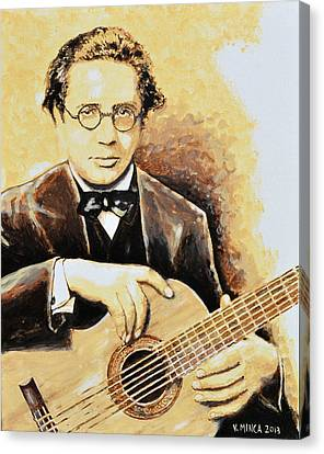 Andres Segovia Canvas Print by Victor Minca