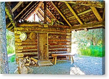 Andrew Berg's Homestead Cabin At Kenai National Wildlife Refuge In Soldotna-alaska Canvas Print by Ruth Hager