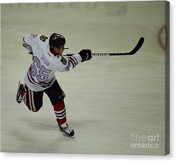 Canvas Print featuring the photograph Andrew Shaw Fights Cancer by Melissa Goodrich