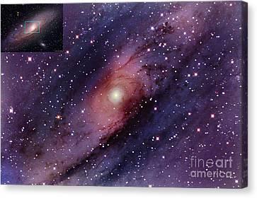 Andromeda Galaxy Central Core Canvas Print by John Chumack