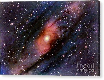 Andromeda Spiral Galaxy With Central Canvas Print by John Chumack
