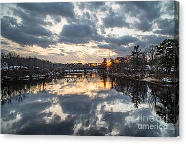 Androscoggin River Reflection Canvas Print