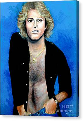 Canvas Print featuring the painting Andy Gibb An Everlasting Love  by Patrice Torrillo