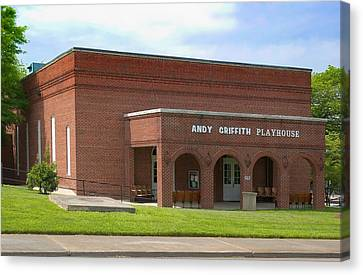 Andy Griffith Playhouse Nc Canvas Print by Bob Pardue