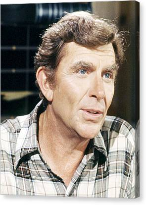 Andy Griffith Canvas Print by Silver Screen