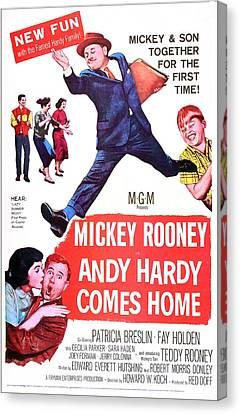 Andy Hardy Comes Home, Us Poster Canvas Print by Everett