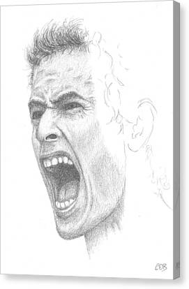 Andy Murray Sketch Canvas Print