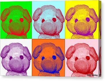 Andy Warhog Canvas Print by Piggy