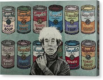 Andy Warhol Canvas Print by Heidi Hooper