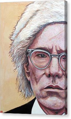 Andy Warhol Canvas Print by Tom Roderick