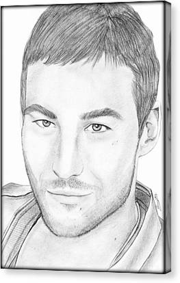 Andy Whitfield  Canvas Print by Saki Art
