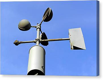 Anemometer And Wind Vane Canvas Print by Bildagentur-online/mcphoto-schulz