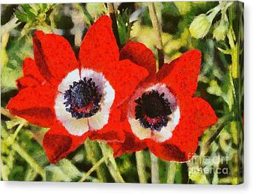 Anemones Canvas Print by George Atsametakis
