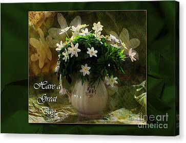 Anemones Canvas Print by Randi Grace Nilsberg