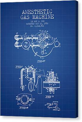 Anesthetic Gas Machine Patent From 1952 - Blueprint Canvas Print