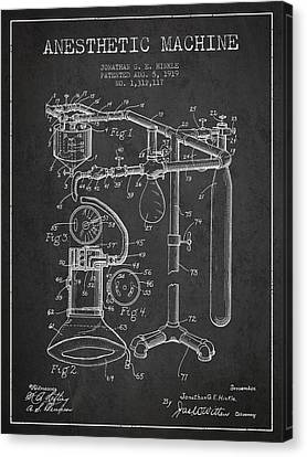 Anesthetic Machine Patent From 1919 - Dark Canvas Print by Aged Pixel