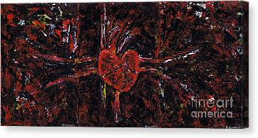 Aneurysm 2 - Triptych Canvas Print by Kamil Swiatek