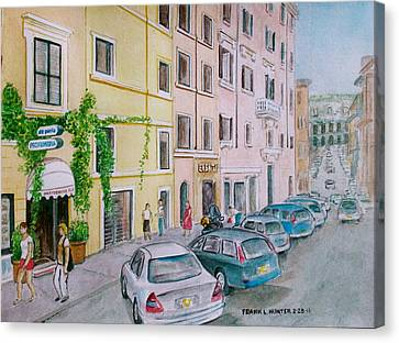 Anfiteatro Hotel Rome Italy Canvas Print by Frank Hunter