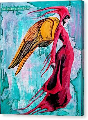 Angel 1 Navigating Ether Canvas Print by Maria Huntley