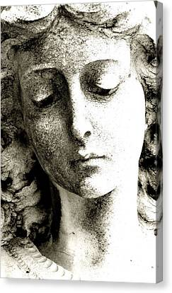 Angel 8 Face Of An Angel Canvas Print by Maria Huntley