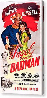 Angel And The Badman, Top L-r John Canvas Print by Everett