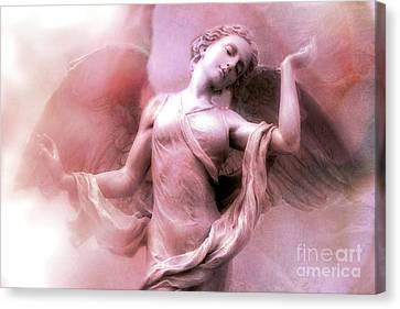 Angel Art Dreaming - Fantasy Ethereal Spiritual Angel Art Wings  Canvas Print