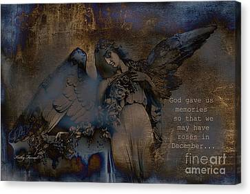 Angel Art Inspiration - Dreamy Surreal Fantasy Inspirational Angel Art Canvas Print
