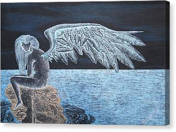 Angel Awaits Canvas Print by Dwayne  Hamilton