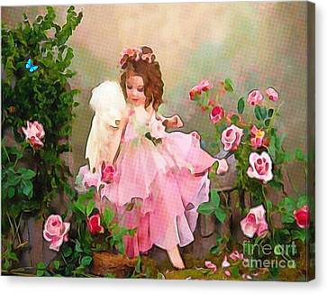 Angel And Baby  Canvas Print