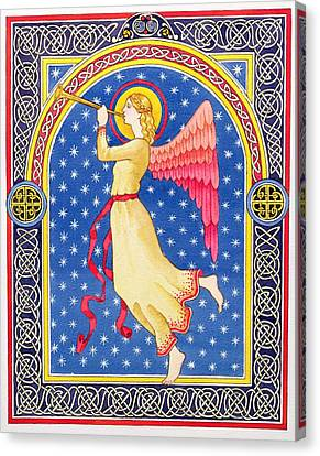 Angel Blowing Trumper Canvas Print by Lavinia Hamer