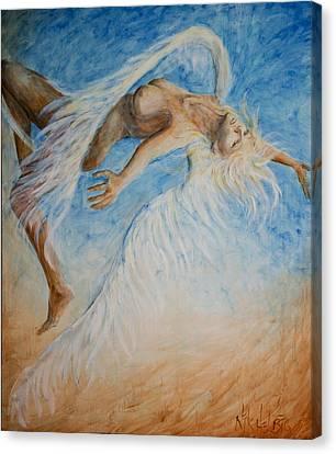 Angel Blu Drifter Canvas Print by Nik Helbig