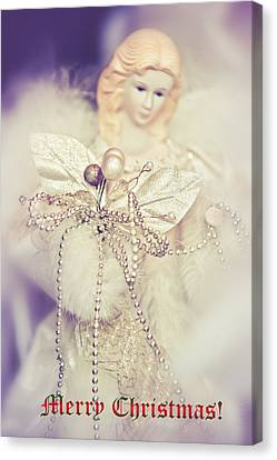 Angel Coming. Merry Christmas  Canvas Print