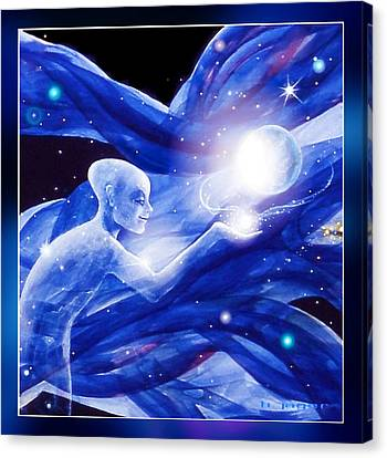 Angel Creator Canvas Print by Hartmut Jager