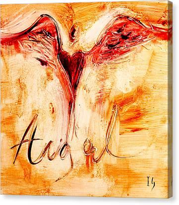Angel De Amor Canvas Print by Ivan Guaderrama