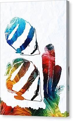 Angel Fish Art - Little Angels 2 - By Sharon Cummings  Canvas Print by Sharon Cummings
