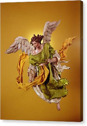 Angel, From The Christmas Creche And Tree Terracotta & Cloth Canvas Print by Neapolitan School