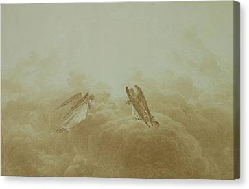 Messenger Canvas Print - Angel In Prayer by Caspar David Friedrich