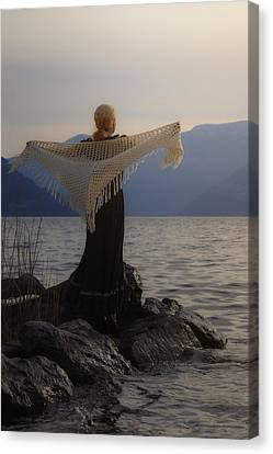 Angel In Sunset Canvas Print by Joana Kruse