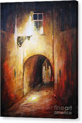 The Nature Center Canvas Print - Angel In The Alley by Dariusz Orszulik