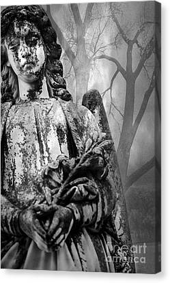 Angel In The Trees Canvas Print by Sonja Quintero