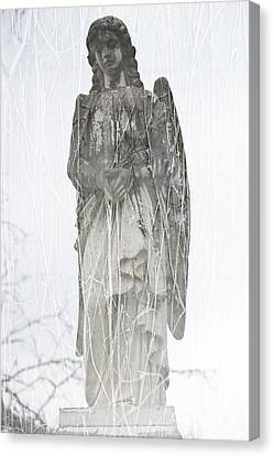 Angel In The Vines Canvas Print