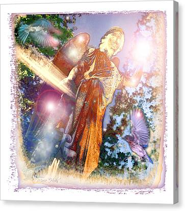 Canvas Print featuring the photograph Angel Light by Marie Hicks