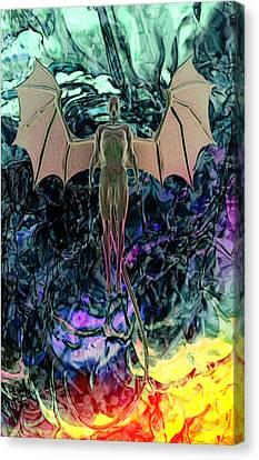Canvas Print featuring the digital art Angel by Matt Lindley