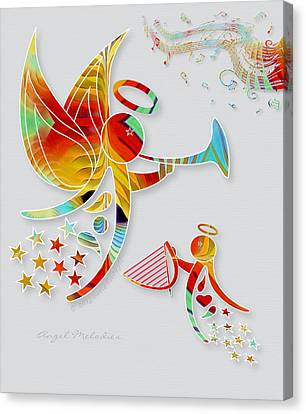 Angel Melodies Canvas Print by Gayle Odsather