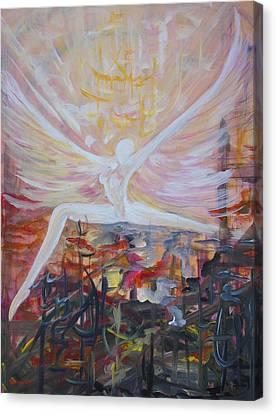 Angel  Canvas Print by Merva  Steiner