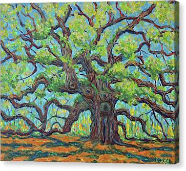 Canvas Print featuring the painting Angel Oak Impression by Dwain Ray