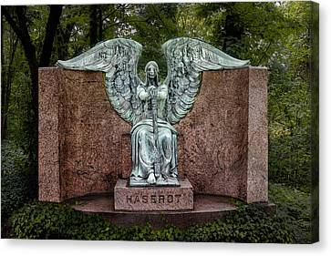 Sadness Canvas Print - Angel Of Death Lake View Cemetery by Tom Mc Nemar